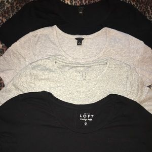 Loft/Ann Taylor t shirt bundle lot